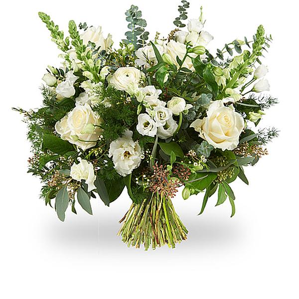 White modern bouquet standard