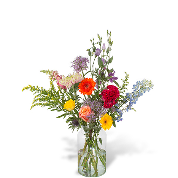 Bouquet Mare grand avec vase