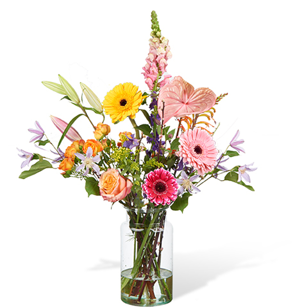 Bouquet Madison grande avec vase