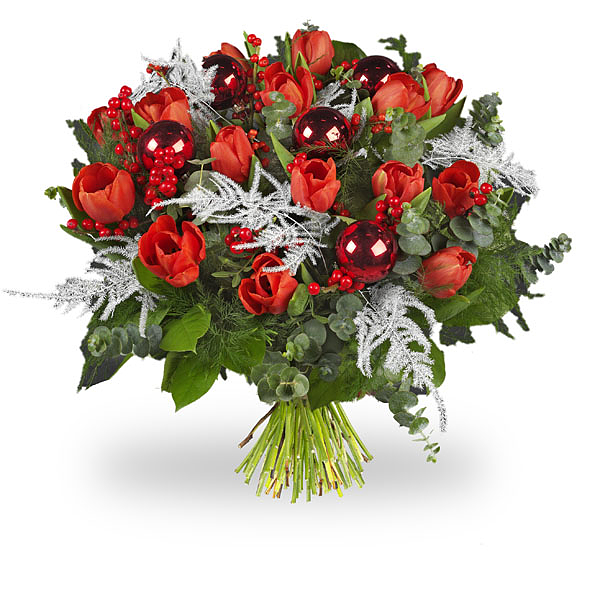 Bouquet Tulipes rouges Luxe grand