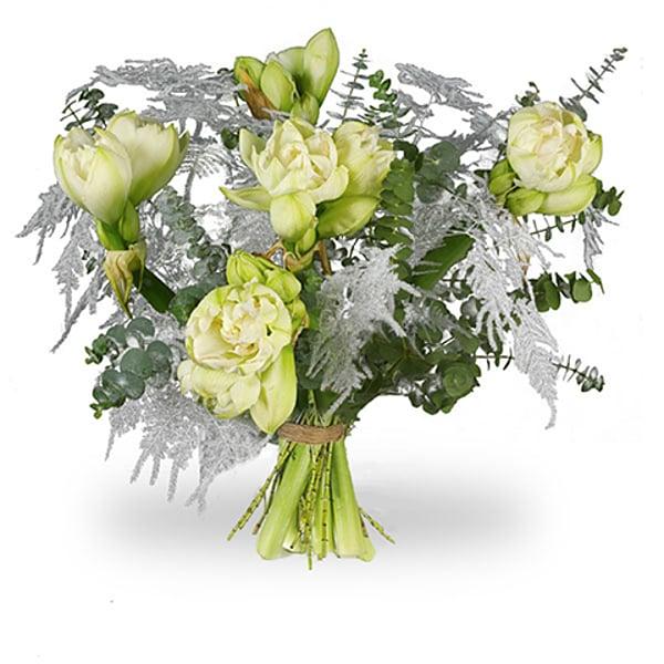 Bouquet amaryllis blanc commande et la livraison for Amaryllis en bouquet