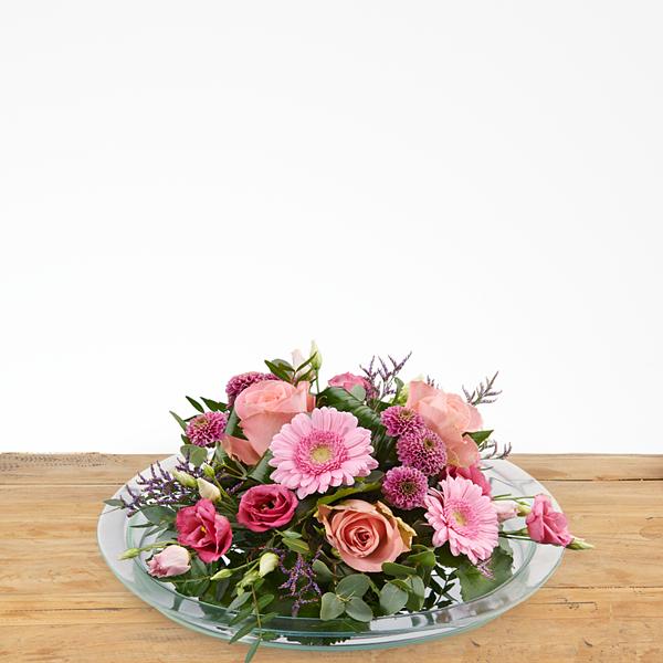 Bloemstuk roze
