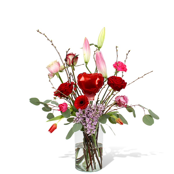 Bouquet Madelon grand avec vase