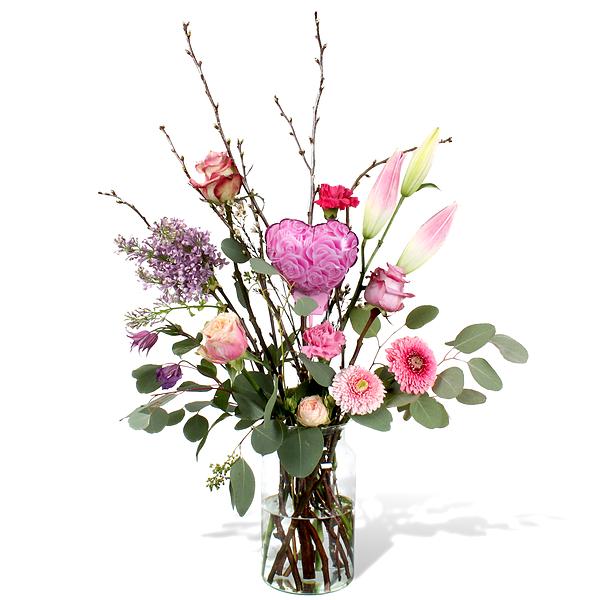 Bouquet Olivia standard avec vase