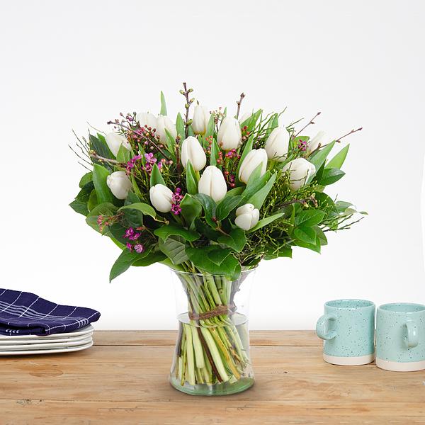 Bouquet Dani white medium
