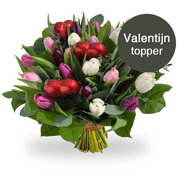 Tulipes pastelles avec coeurs standard