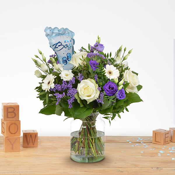 Bouquet de naissance Jip avec ballon Moyen