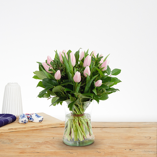 Boeket Thara roze klein