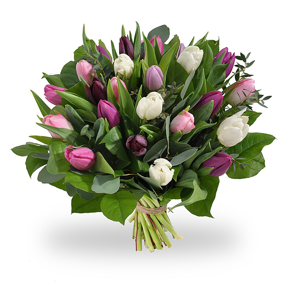 Bouquet de tulipes pastelles grand
