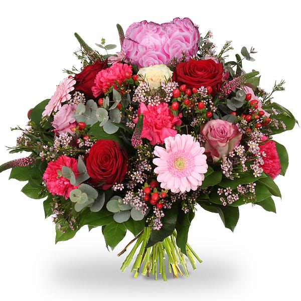 Bouquet Emma XL + coeur rose