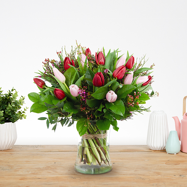 Bouquet Dani red-pink large