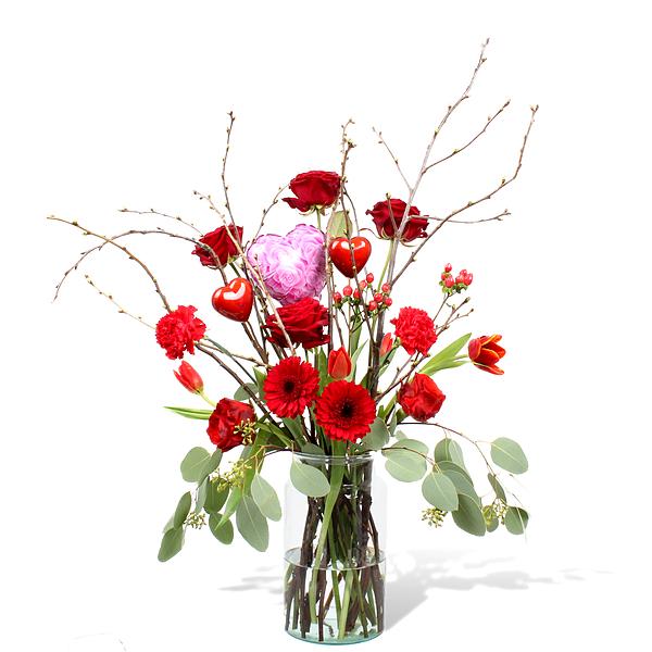 Bouquet Chiara standard avec vase