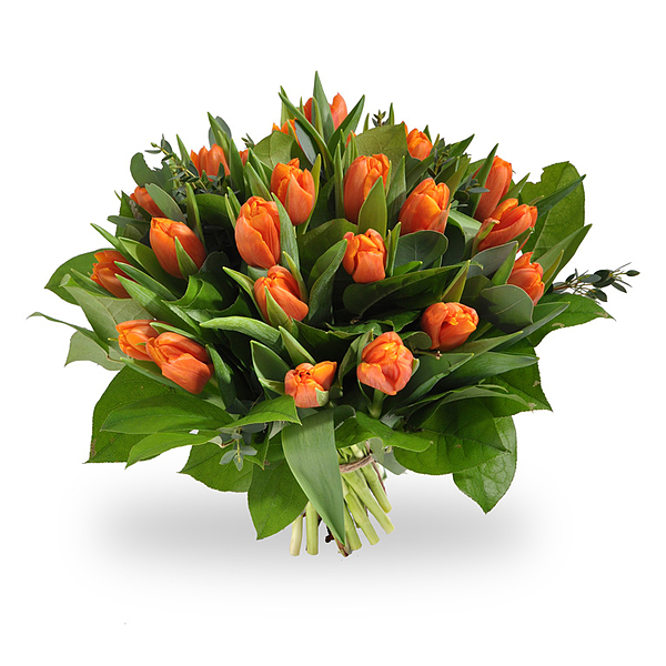 Bouquet de tulipes oranges grand