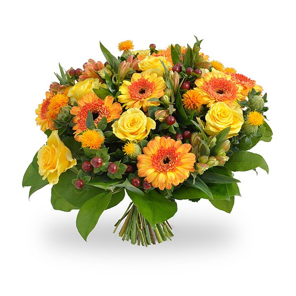 Bouquet orange jaune grand