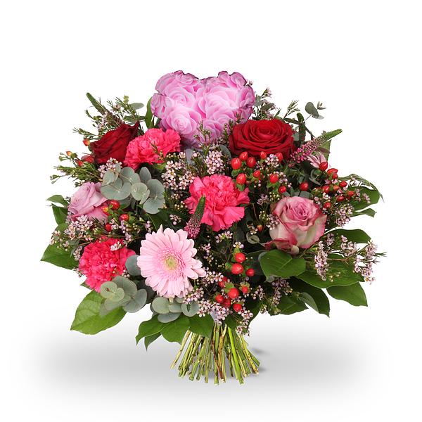 Bouquet Amour rouge le coeur