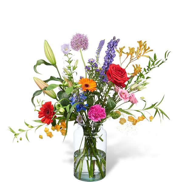 Bouquet Mariëlle grand avec vase