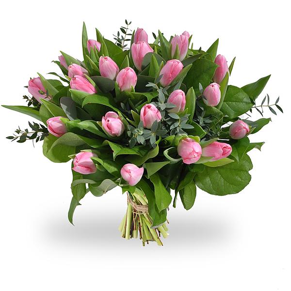 bouquet de tulipes roses grand