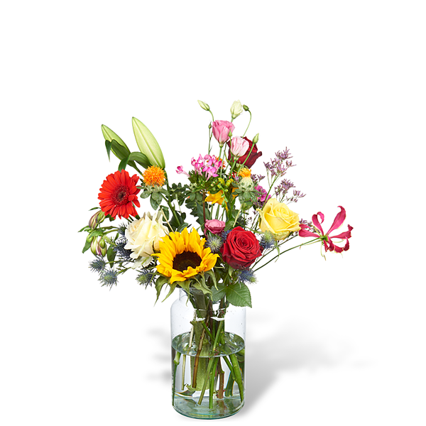 Bouquet Lynn grand avec vase